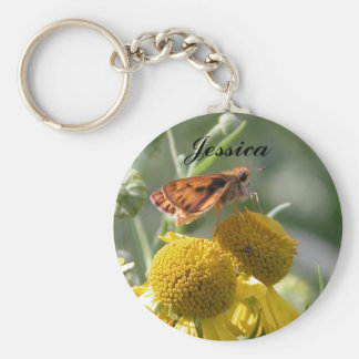 Autumn Sneezeweed, Jessica Basic Round Button Key Ring