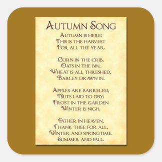 Autumn Song Thanksgiving Harvest Sticker