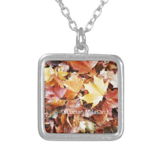 Autumn soul silver plated necklace