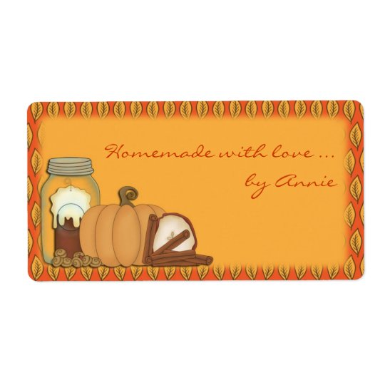 Autumn Spice Label Shipping Label