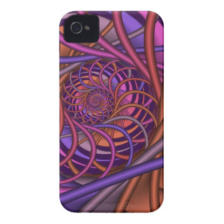 Autumn spiral, artistic abstract iPhone 4 Case-Mate case