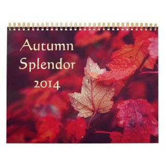 Autumn Splendor 2014 Wall Calendar