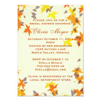 Autumn Splendor Bridal Shower Invitation