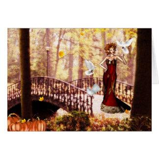 Autumn splendor elf card