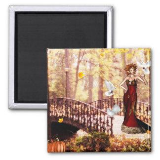Autumn splendor elf magnet