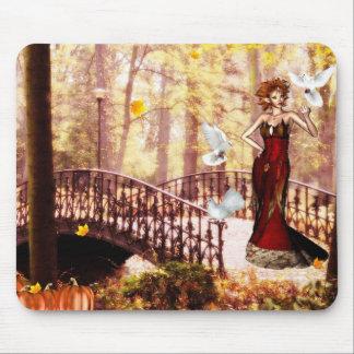 Autumn splendor elf mouse pad