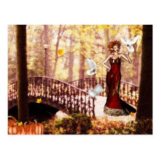 Autumn splendor elf postcard