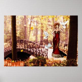 Autumn splendor elf poster