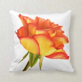 Autumn Splendor Fire Rose Flower Cushion Pillow