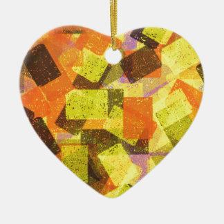 Autumn Sponge Design Christmas Ornament