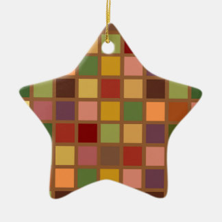 Autumn Squared Christmas Ornament