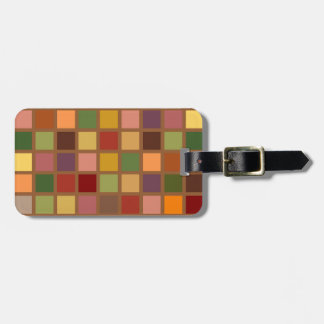 Autumn Squared Personalized Luggage Tag