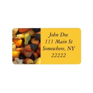 Autumn Squash Address Label