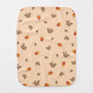 Autumn Squirrel Burp Cloth