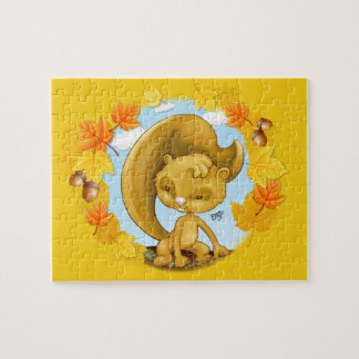 Autumn Squirrel Cartoon Puzzle