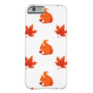 Autumn Squirrel Maple Leaf Pattern Barely There iPhone 6 Case