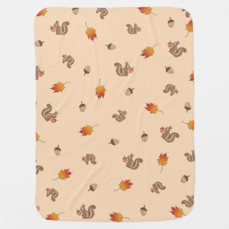 Autumn Squirrel Receiving Blanket