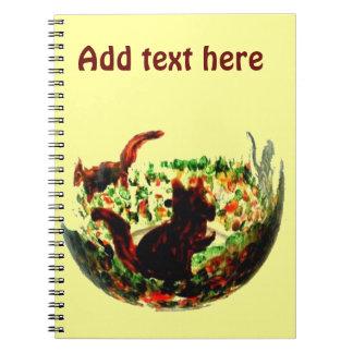 Autumn Squirrels Animal Art Notebooks
