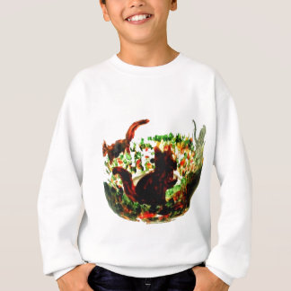 Autumn Squirrels Animal Art Sweatshirt