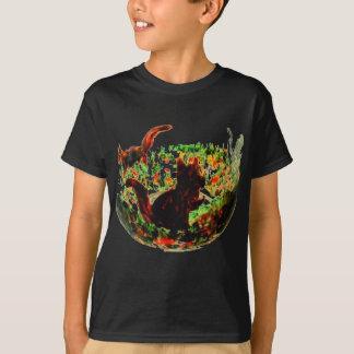 Autumn Squirrels Animal Art T-Shirt