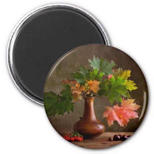 Autumn Still Life 6 Cm Round Magnet