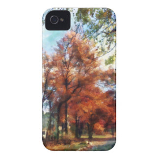 Autumn Street Perspective iPhone 4 Case-Mate Case