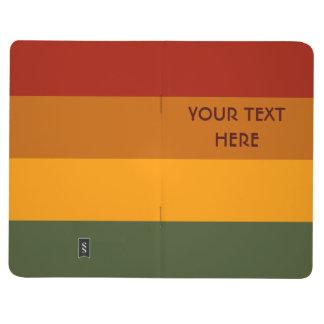 Autumn Stripes custom pocket journal