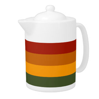 Autumn Stripes custom teapot