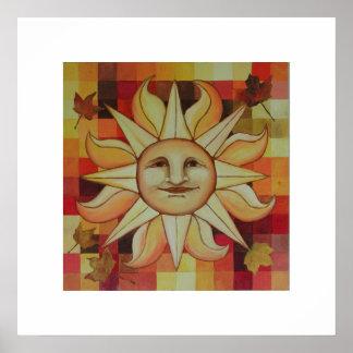 Autumn Sun Posters