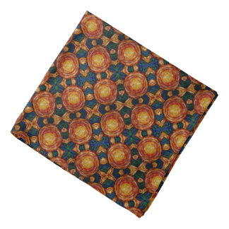 Autumn Sunburst Pattern Bandana