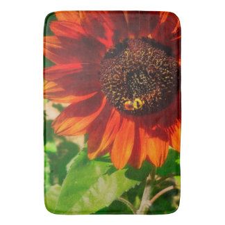 Autumn Sunflower and Bumble Bee Bathmat