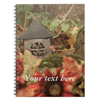 Autumn Sunflowers Pagoda Notebook
