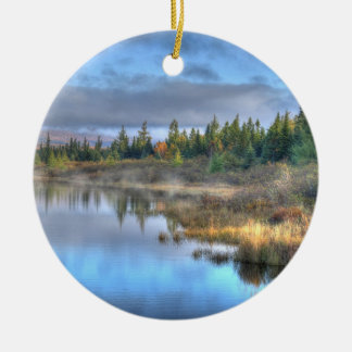 Autumn Sunrise at Moosehead Lake Maine Christmas Ornament