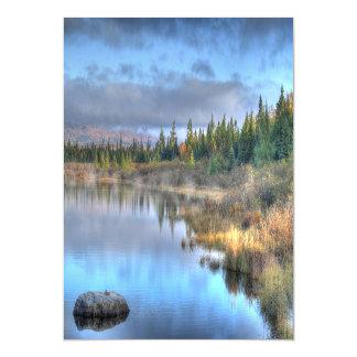 Autumn Sunrise at Moosehead Lake Maine Magnetic Invitations
