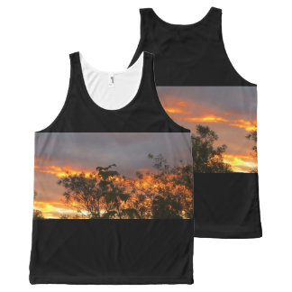 Autumn Sunset in Canberra All-Over Print Tank Top