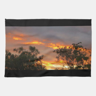 Autumn Sunset in Canberra Towel