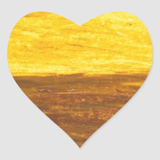 Autumn Sunset over Harvest Field (minimalism) Heart Stickers