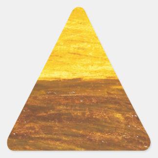 Autumn Sunset over Harvest Field (minimalism) Triangle Sticker