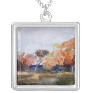 Autumn, Sussex Silver Plated Necklace