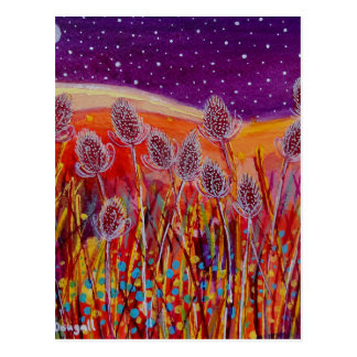 Autumn Teasels Postcard