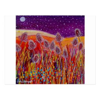 Autumn Teasels Postcard