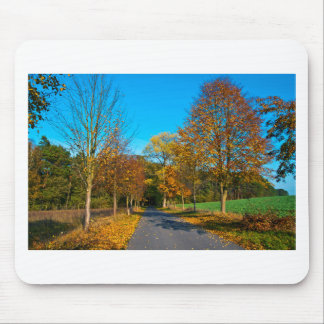 Autumn tendency in golden October Mouse Pad