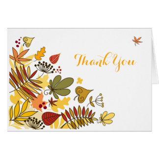 Autumn Thank You Card | Leaves, Seeds, Berries