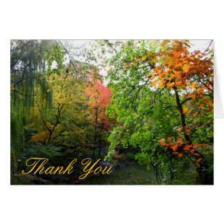 Autumn Thank You Greeting Card