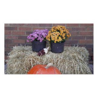 Autumn Thanksgiving Harvest Fall Scene Business Cards