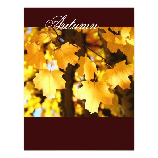 Autumn Theme paper Yellow Fall Tree Leaves Flyers