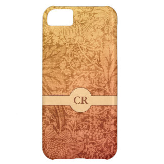 Autumn Thistles and Leaves Floral Custom Monogram iPhone 5C Case