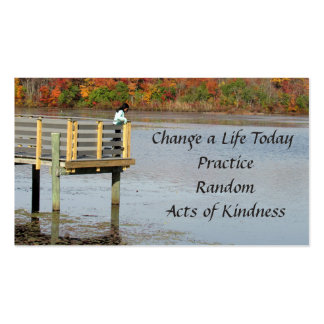 Autumn Thoughts Random Acts of Kindness Cards Pack Of Standard Business Cards