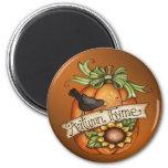 Autumn thyme 6 cm round magnet