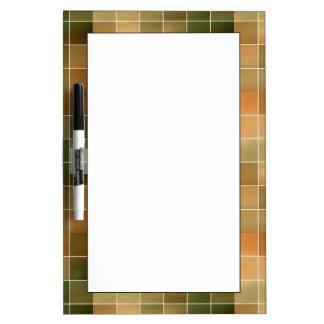 Autumn tiles dry erase board